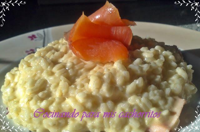 risotto de salmón