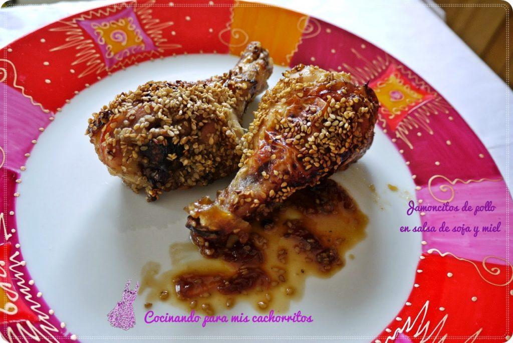 jamoncitos de pollo en salsa de soja y miel