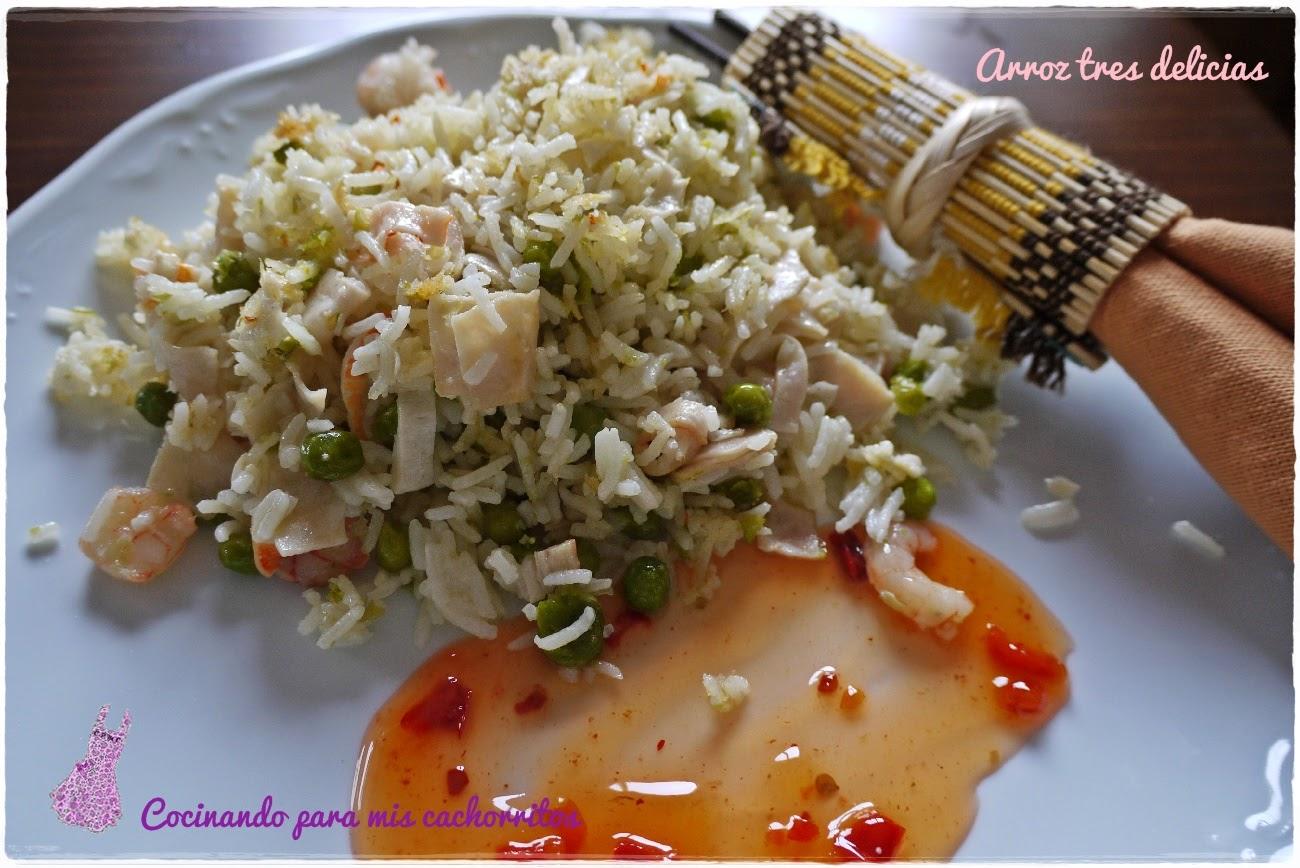 Arroz tres delicias receta de arroz tres delicias como en for Cocinar arroz 3 delicias