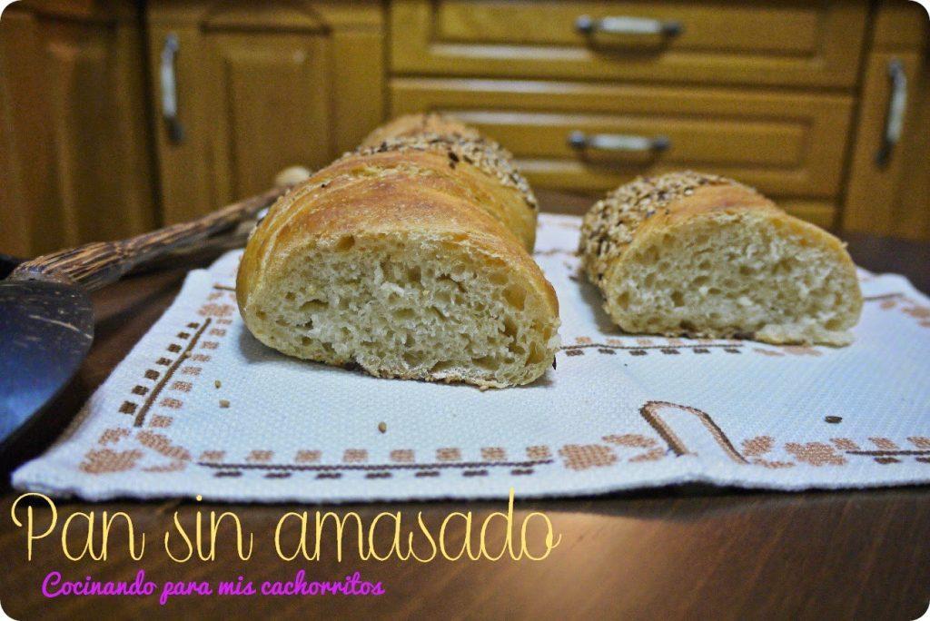 Barra de pan sin amasado