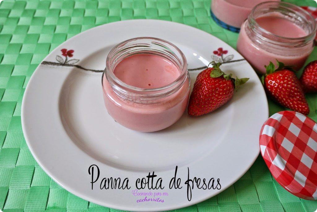 Panna cotta de fresas