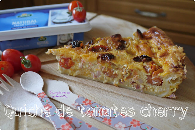 Quiche de tomates cherry
