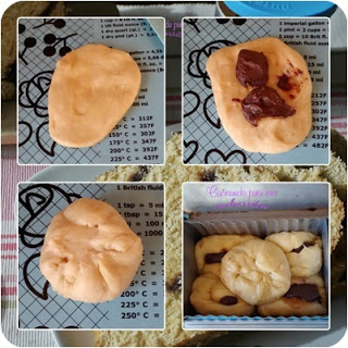 pan de molde relleno de nutella