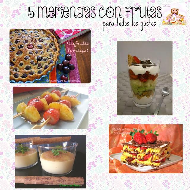 5 deliciosas meriendas con fruta