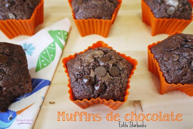Muffins de chocolate del Starbucks