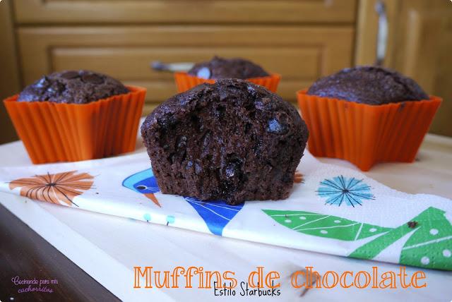 Muffins de chocolate de Starbucks