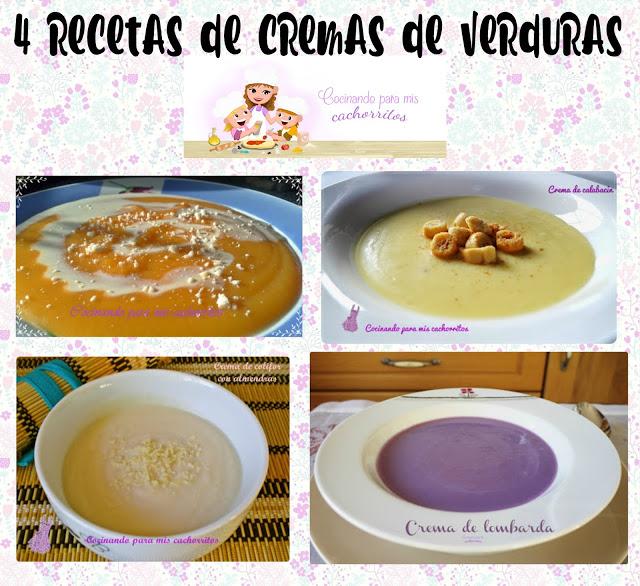 4 rectas de cremas de verduras