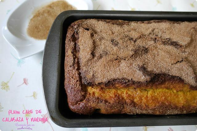 plum cake de calabaza y naranja