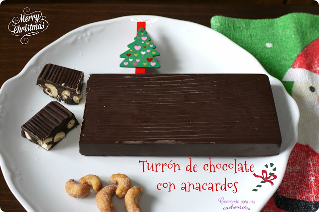 turrón de chocolate con anacardos