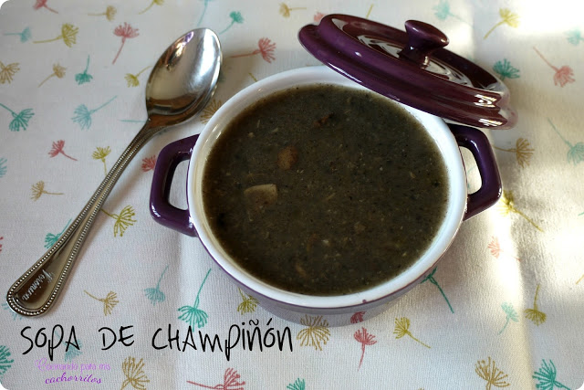 sopa de champiñón