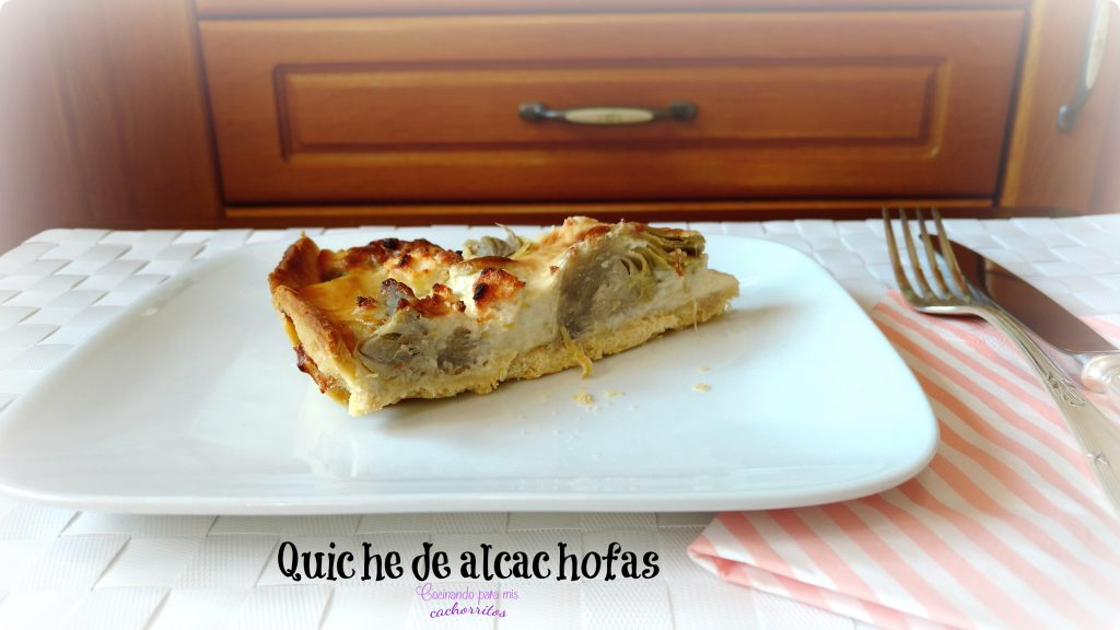 Quiche de alcachofas