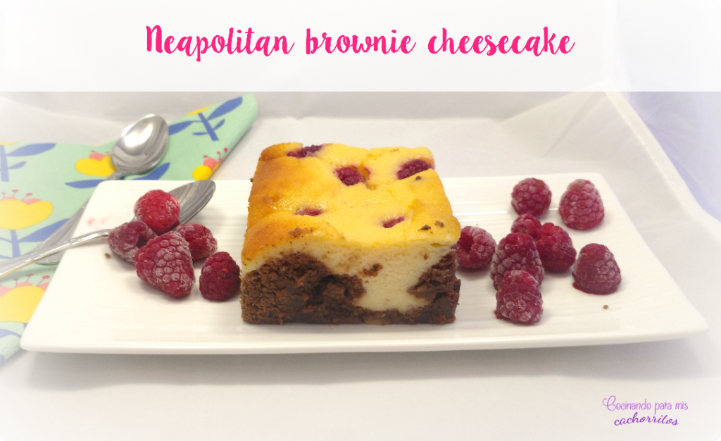 neapolitan brownie cheesecake