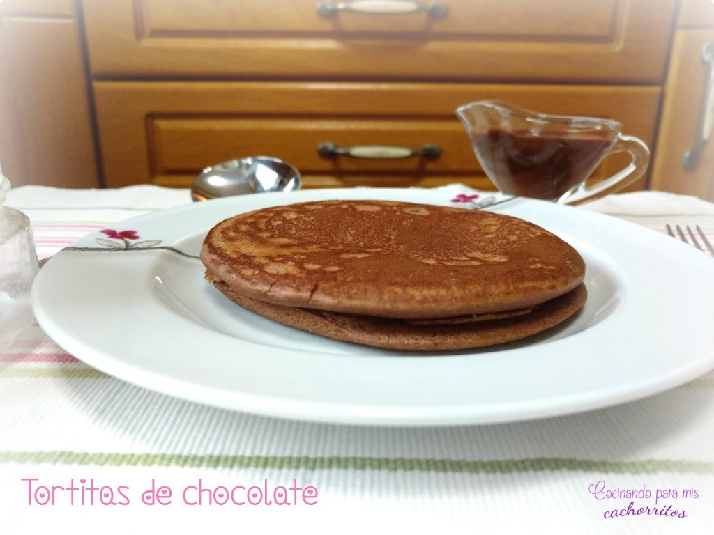tortitas de chocolate