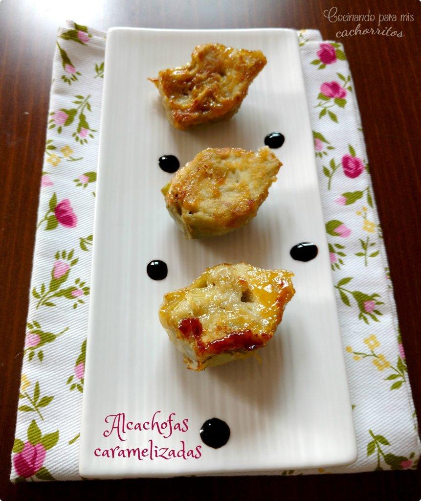 Alcachofas caramelizadas