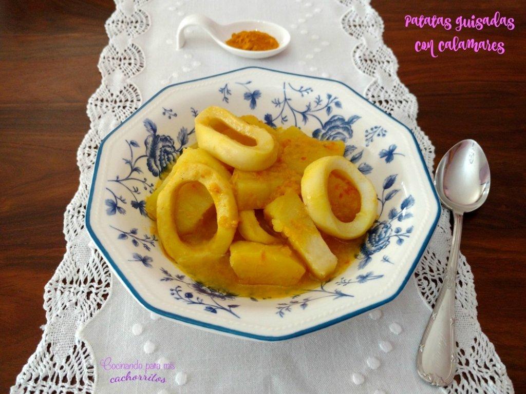 patatas guisadas con calamares en Crock-Pot