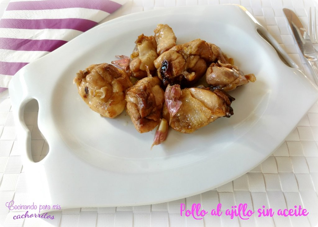 Pollo Al Ajillo Sin Aceite Actifry Cocinando Para Mis Cachorritos