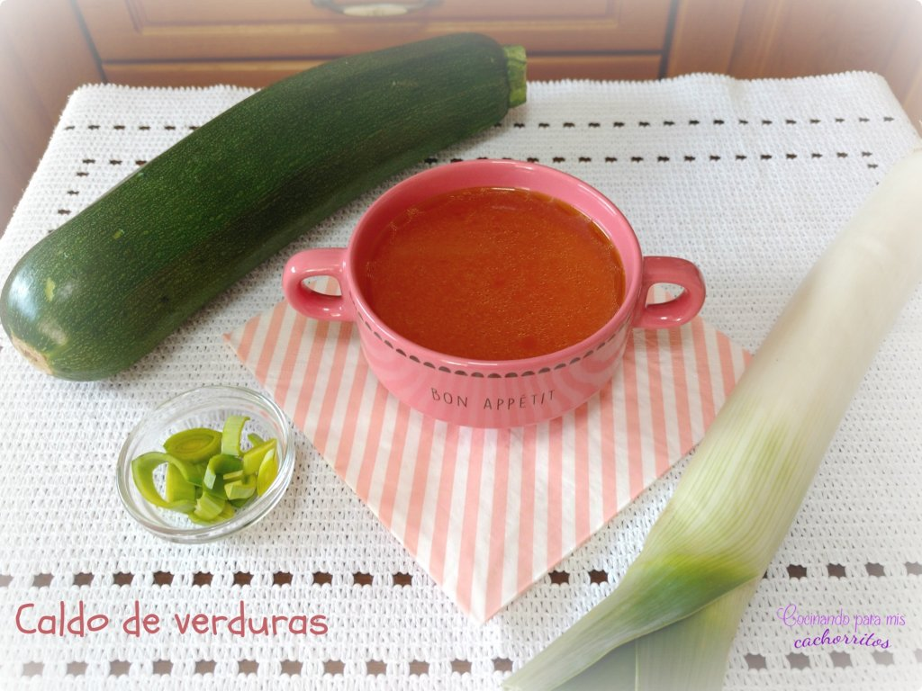 caldo de verduras olla rápida
