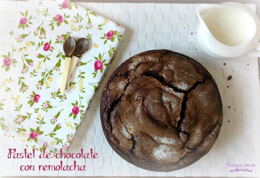 pastel de chocolate con remolacha
