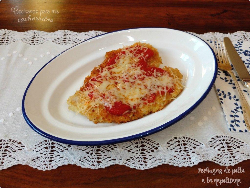 pechugas de pollo a la napolitana sin huevo