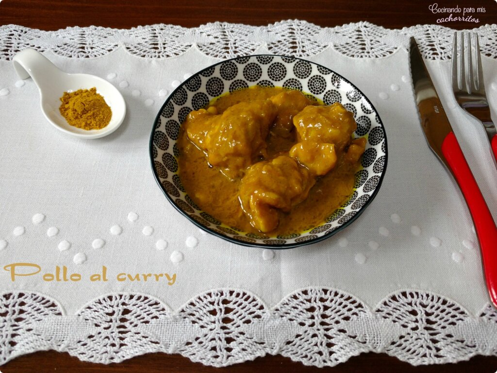 Pollo al curry en Thermomix
