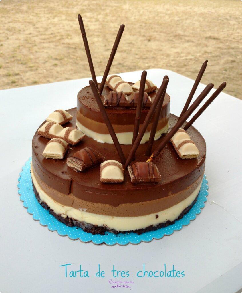 tarta de tres chocolates