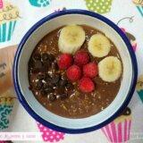 porridge de avena y cacao