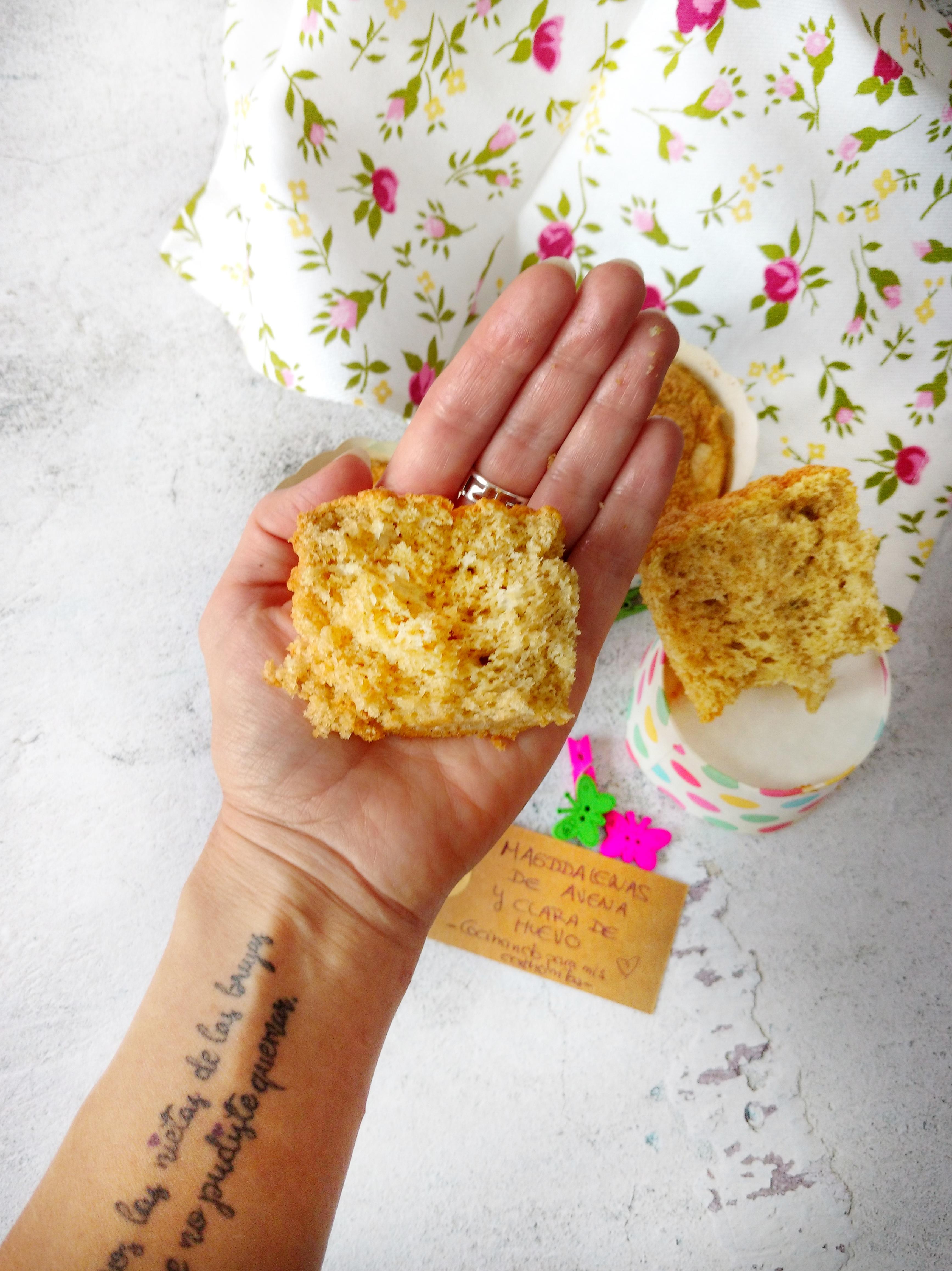 magdalenas de avena y clara de huevo