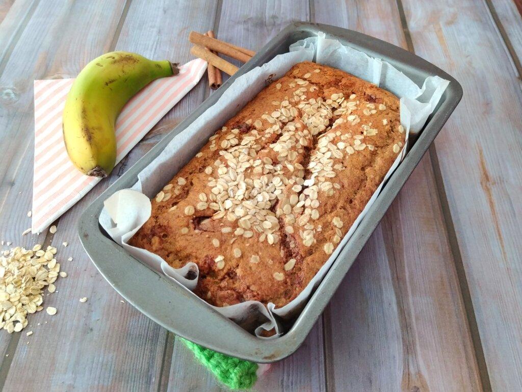 bizcocho veggie de plátano maduro
