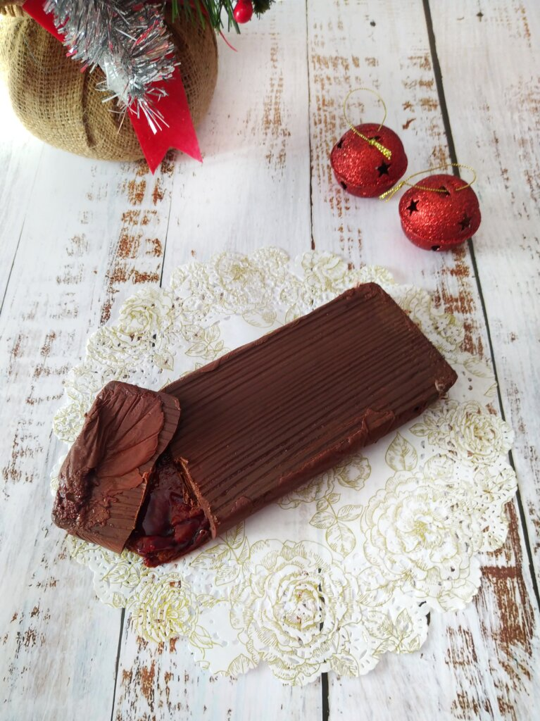turrón chocolate cereza