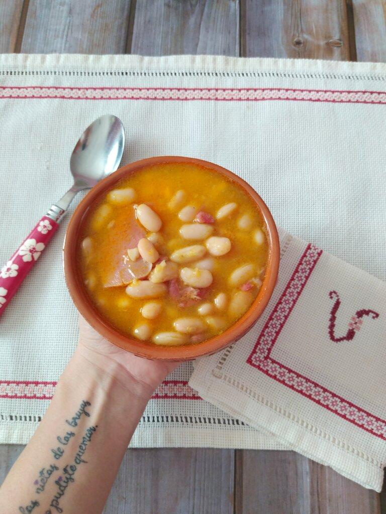 alubias con lacón y calabaza Crock-pot