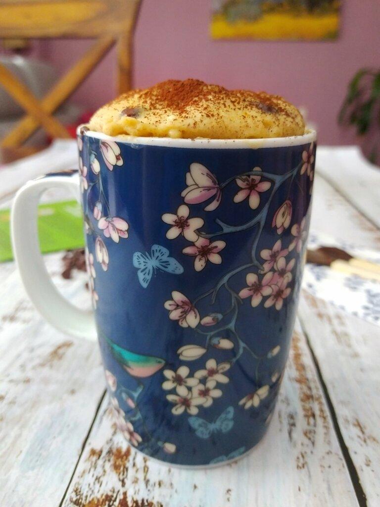 mug cake mantequilla de cacahuete
