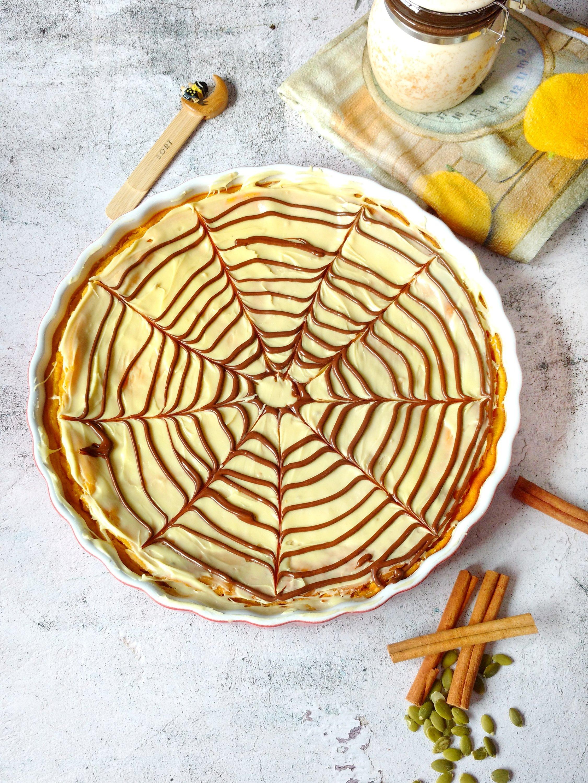 tarta de calabaza y chocolate blanco