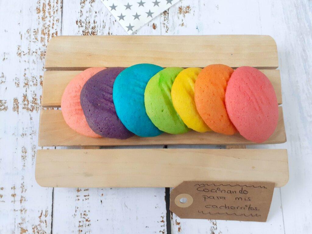 galletas arcoíris