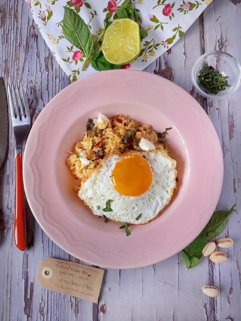 huevos persas con bulgur