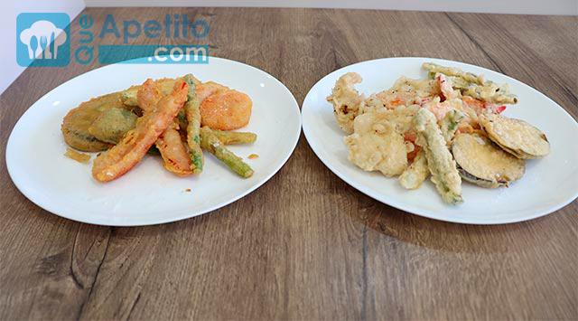 cómo preparar tempura