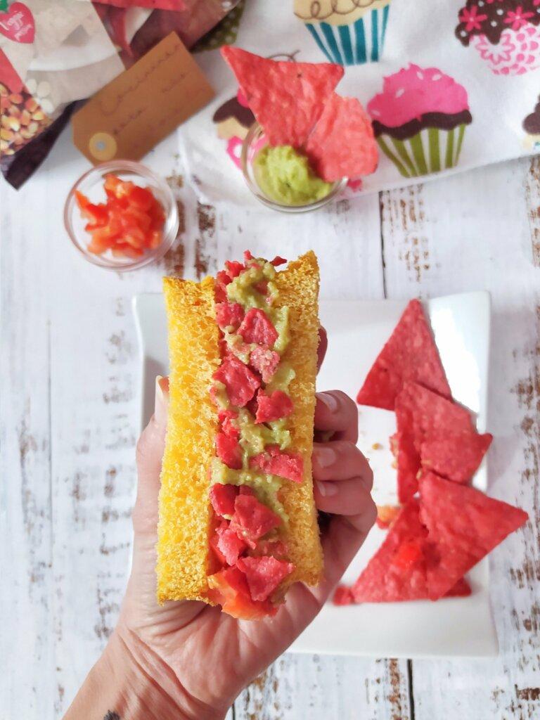 Sándwich de guacamole