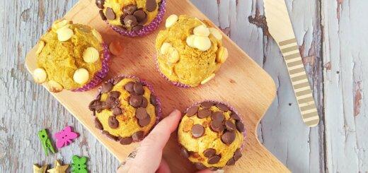 muffins de avena y plátano
