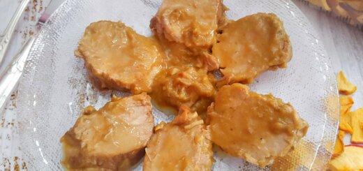 Solomillo con salsa de manzana