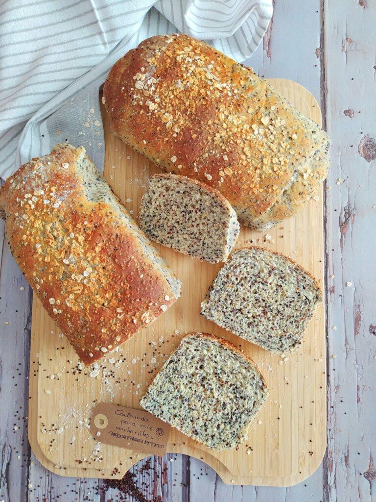 Pan de molde multicereales