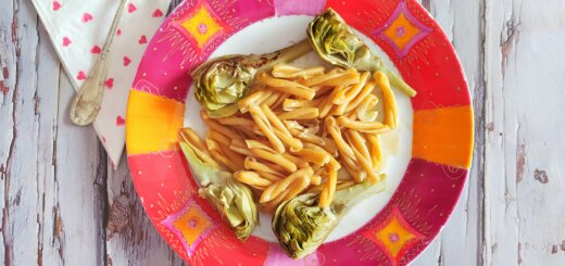 Pasta con alcachofas