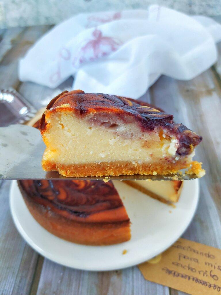 tarta de queso y moras